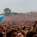 La foule en attente du spectacle des Foo Fighters